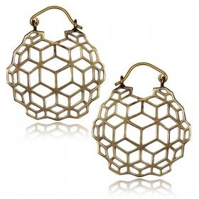 """""""Sangha"""" Brass earrings"""