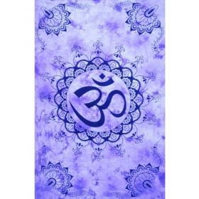 """Tenture """"Vibration Ohm"""", Violet 1,40m x 2,20m"""