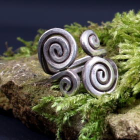"""Adjustable ethnic silver ring """" anong"""""""
