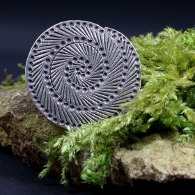 "Adjustable ethnic silver ring ""aran"""