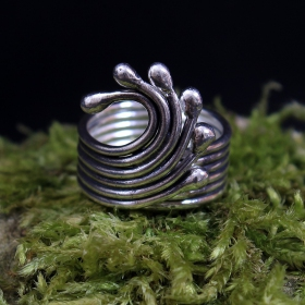 "Adjustable ethnic silver ring ""issara"""