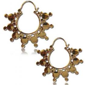 """aniya"" brass earings"