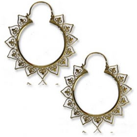 "\""anuva\"" brass earings"