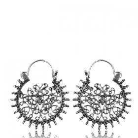 """Boucles d\'oreille en argent 1mm \""""Laksha\"""""""