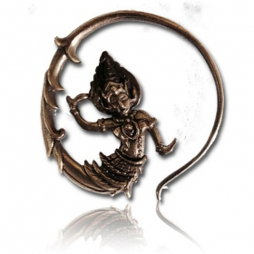 """bouddha"" brass earings"