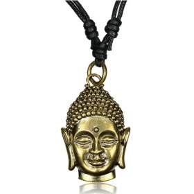 """Bouddha\"" brass necklace"