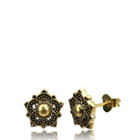 "Brass Earring \""Adirah\"""