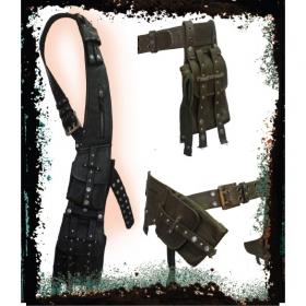 "Ceinture poche \""multi bag belt\"", kaki ou noir"