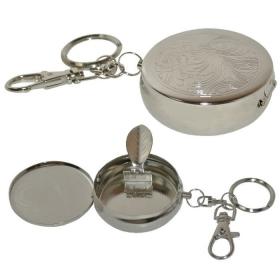 Cendrier de poche porte clef metal
