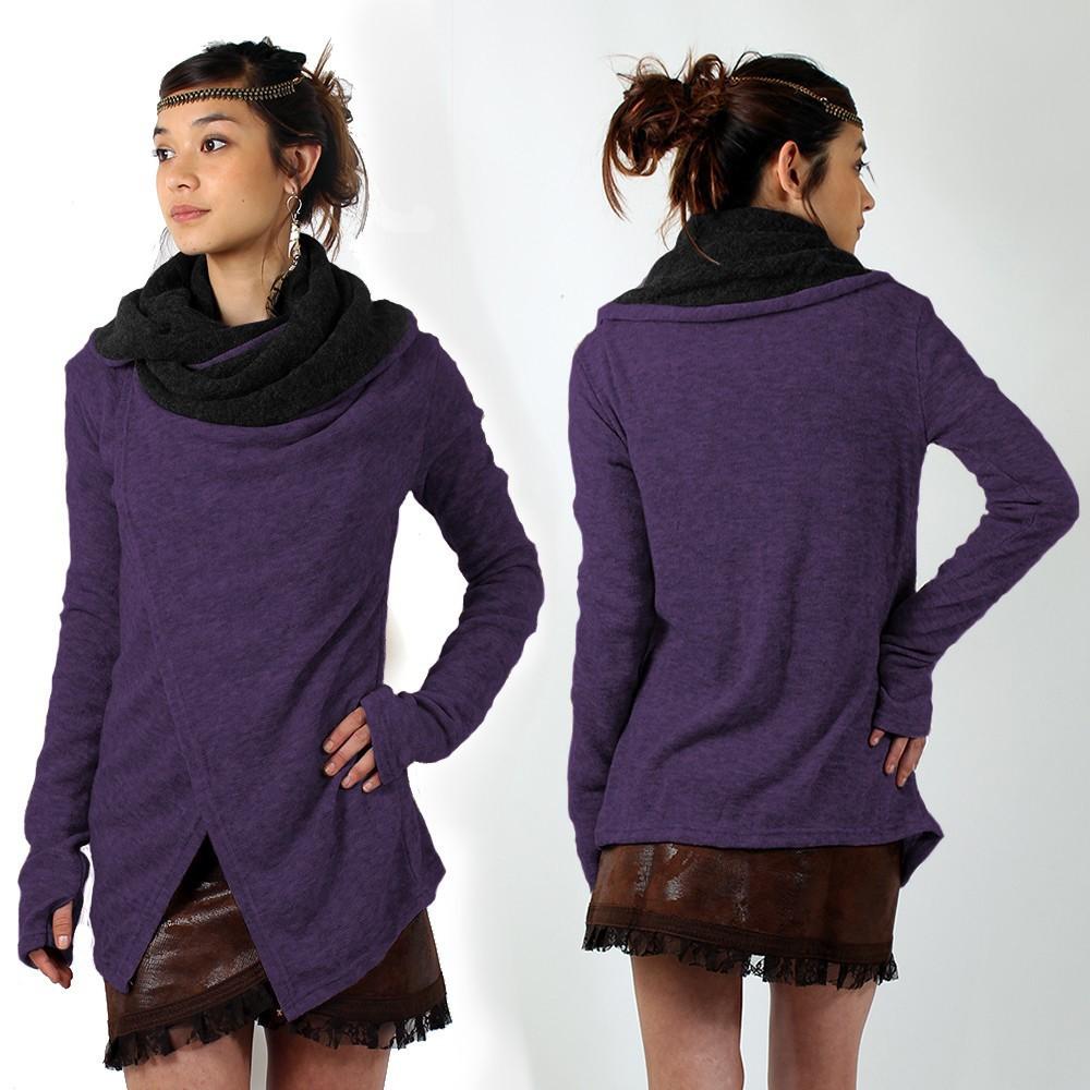 chale adrika violet femme pull sweat. Black Bedroom Furniture Sets. Home Design Ideas