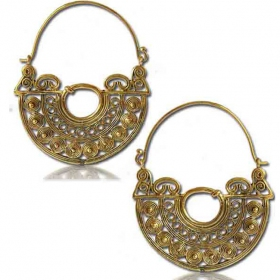 """chanda"" brass earings"