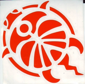 Cutting stickers turtle