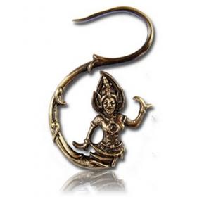 """""""dancing bouddha"""" brass earings"""