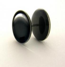 Fake plug plain black