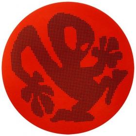 Feutrines plasticman à point rouge/noir