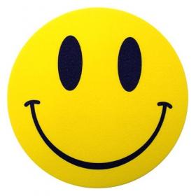 Feutrines smiley jaune