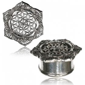 """Flower of life Lotus Pali\"" brass plug"