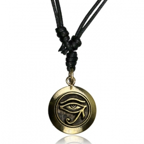 """Horus\"" brass necklace"
