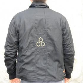 "Indian project jacket ""hexagris"", black"