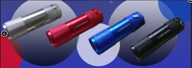 Lampes torches 9 led rouge