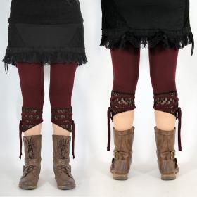 "Legging Yggdrazil \""L�-Jaa\"", Bordeaux dentelle marron"