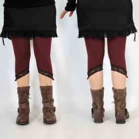 "Legging Yggdrazil \""L�-Kaz\"", Bordeaux dentelle marron"