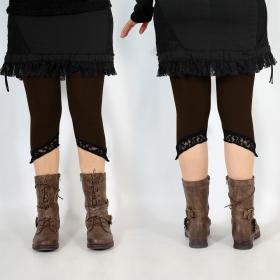 """Legging Yggdrazil \""""L�-Kaz\"""", Marron dentelle noir"""