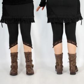 """Legging Yggdrazil \""""L�-Kaz\"""", Noir dentelle marron"""