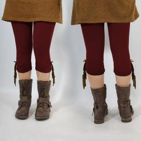"Legging Yggdrazil \""Li-Z�\"", Bordeaux dentelle marron"