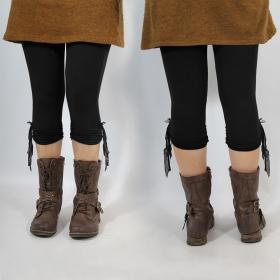 """Legging Yggdrazil \""""Li-Z�\"""", Noir uni"""