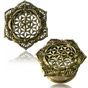 """Lotus Flower of life\"" Brass Plug"