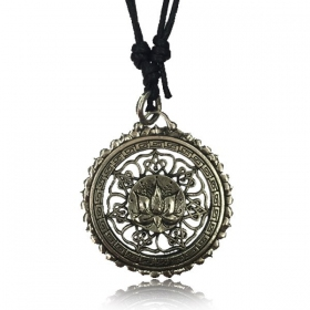 """Lotus Mandala Pali\"" brass necklace"