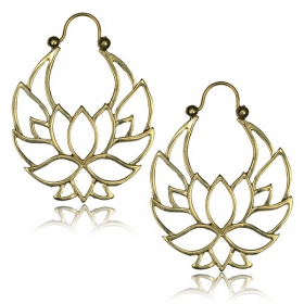 """Lotus Nidra\"" Brass earrings"