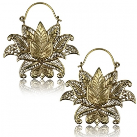 """Lotus Nilam\"" Brass earrings"