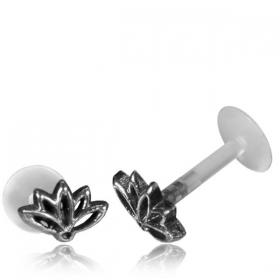 "\""Lotus Terya Pali\"" silver labret"