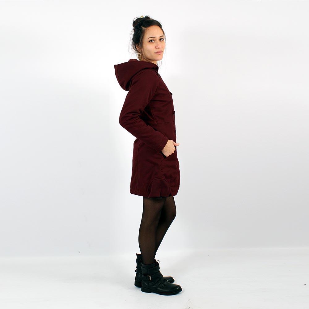 Manteau \'\'Shristi\'\', Bordeaux foncé
