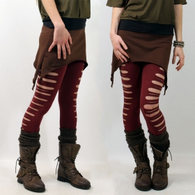 "Mini jupe \""double pointed\"", marron"