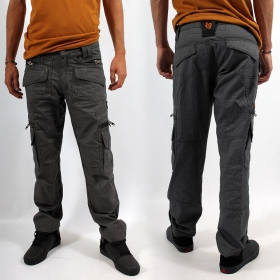 "Pantalon Indian Project ""Kontaktt\"", Pixel Gris"