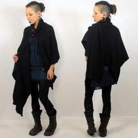 """Poncho \""""sahira\"""", noir taille unique"""