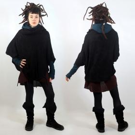 """Poncho \""""taraka\"""", noir taille unique"""