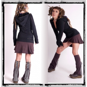 "Robe fairy floss \""direwood\"", noir et marron"
