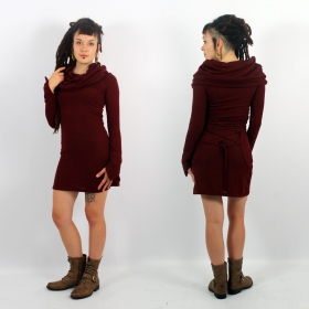 "Robe pull ""Sha� \"", Bordeaux"
