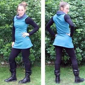 """Robe sa� wear \""""ski jwala print\"""", bleu p�trole"""