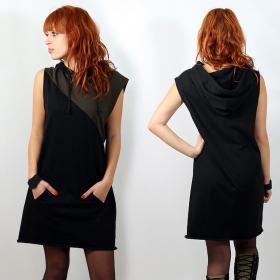 "Robe witch \""kurinji \"", noir-kaki taille unique"