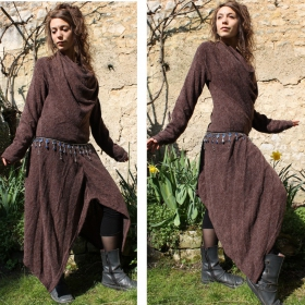 "Robe witch ""omisha\"", marron"