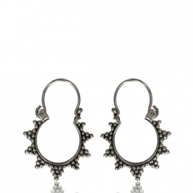"""Sadhvi\"" Silver earrings"