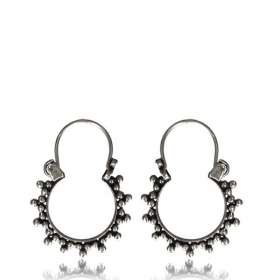 """Sapna\"" Silver earrings"