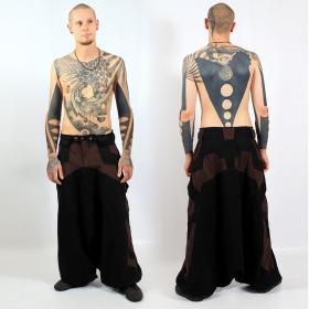 "Sarouel high clothing \""fakir\"", noir-marron"