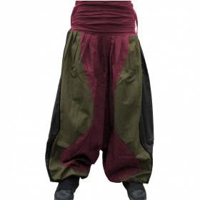 Sarouel Tricolor Macha, Noir bordeaux kaki