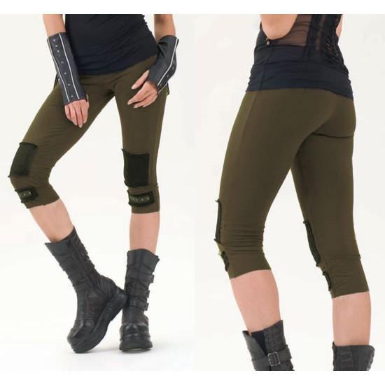 short leggings kaki taille s femme leggings treggings. Black Bedroom Furniture Sets. Home Design Ideas